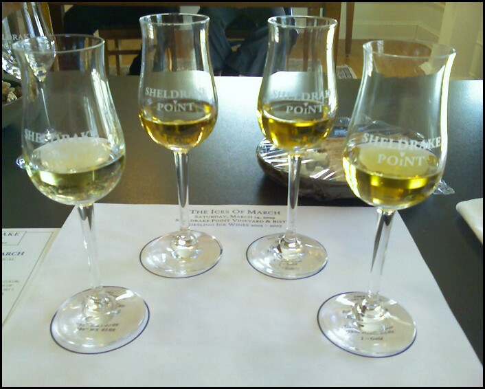 "Megapost: ""Ices of March"" vertical Finger Lakes ice wine tasting at Sheldrake Point"