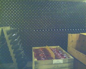 Lots of bottles.  The crude cell phone pic does not begin to capture the number of bottles.  Click to enlarge