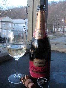 A cool spring afternoon with some bubbly. Click to visit the Dr. Frank website