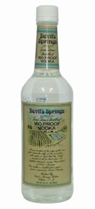 Forget Listerine, Devil's Springs is 160 proof, enough to sterilize pretty much anything.  Also, don't take a sip by accident.  Your face might melt right off.