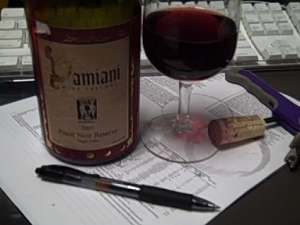 Enjoying some Damiani at my desk after going over the final draft of a paper I recently submitted.  Can you see any typos?